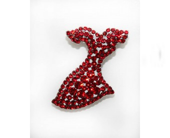Go Red Brooch 29 shop heart com
