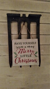 Porch Xmas sign